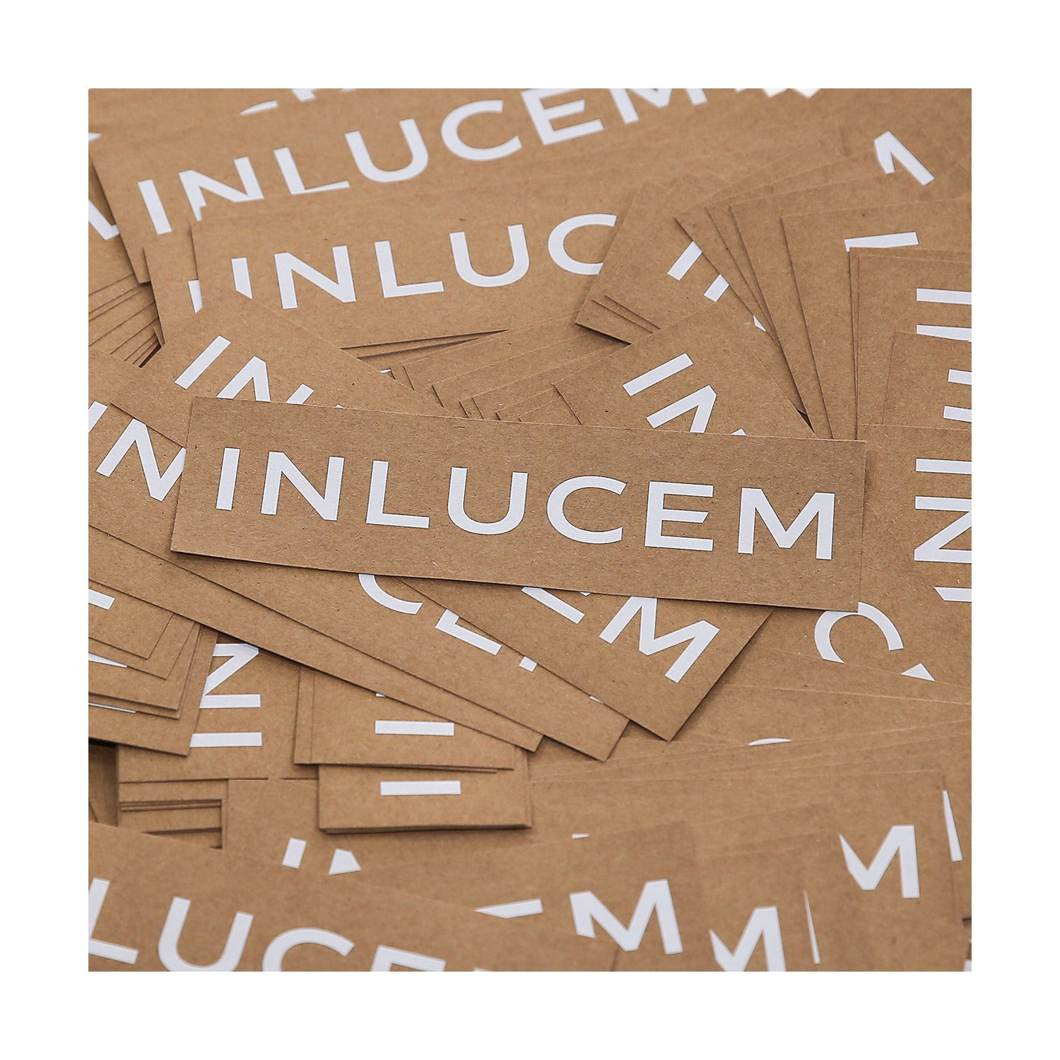 Recycled kraft paper label stickers by Inlucem