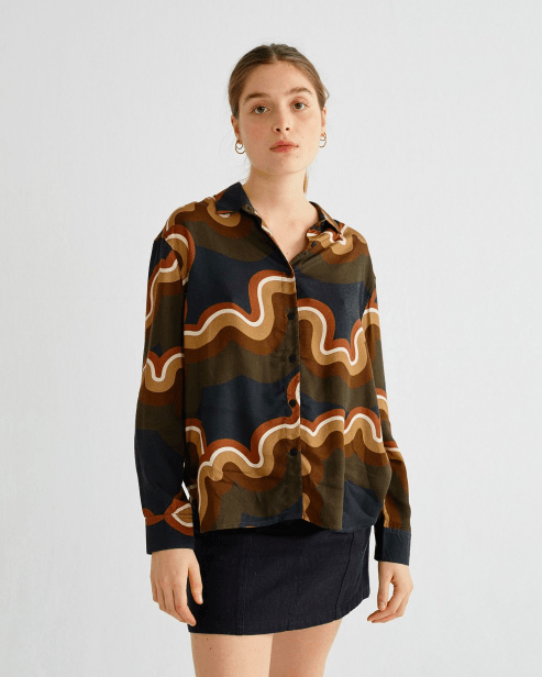 Psychedelic Kati Blouse