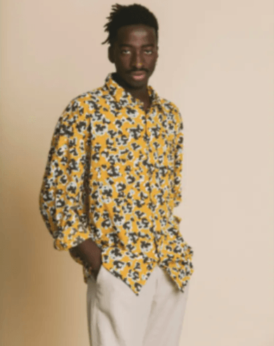 Abstract Flowers Gambia Shirt