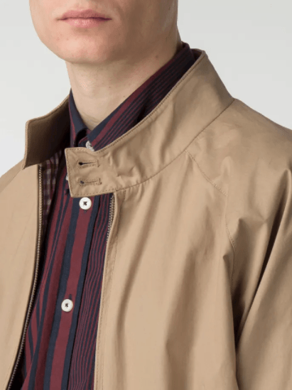 Sand Cotton Harrington Jacket