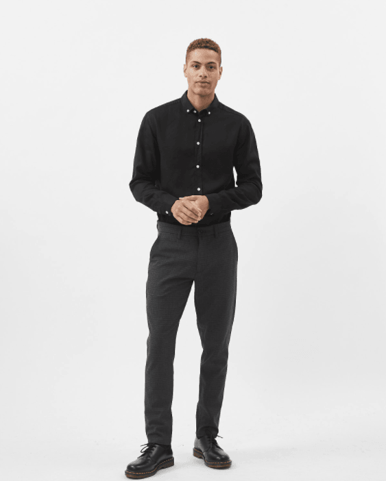 Grey Melange - ugge 2.0 dressed pants 6964