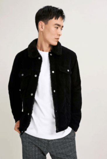 Blaze Jacket - Black Corduroy