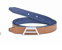 Load image into Gallery viewer, ADAPT Vegan Belt – Reversible Camel/Blue