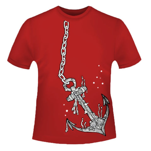 Anchor Red T-shirt - Unisex