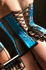 Soft Touch Vinyl and Brocade 'Trina' Corset
