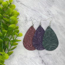 Load image into Gallery viewer, EMBOSSED // Leather Earrings