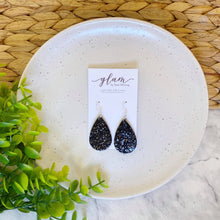 Load image into Gallery viewer, NOIR // Midnight Mini Leather Earrings