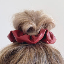 Load image into Gallery viewer, Sangria Hair Scrunchie // Faux Leather