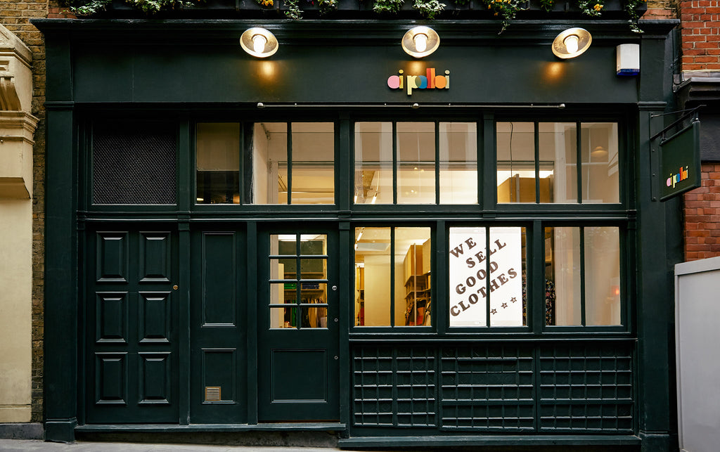 The front of Oi Polloi's London outpost in Soho