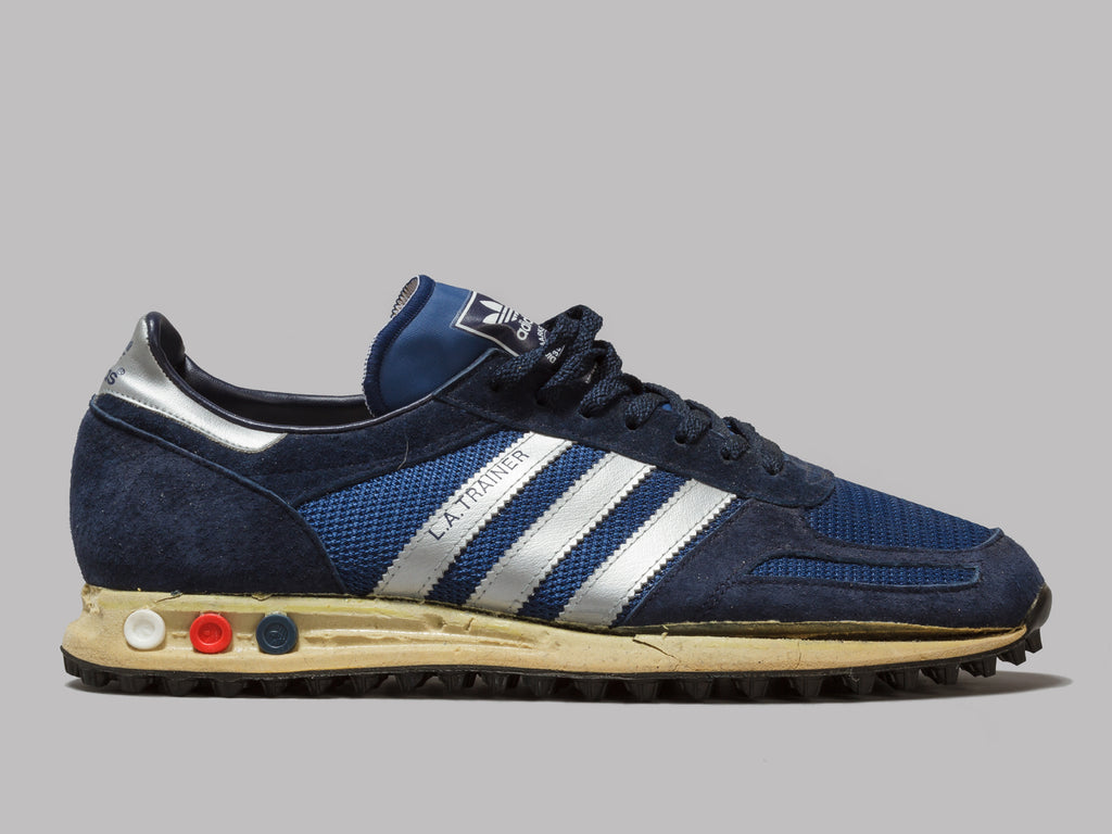 6735f826497 They were the most expensive running shoes in there at the time. Back then,  in the early 80s, the LA Trainer was adidas's ...