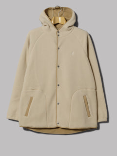 Gramicci Boa Fleece Hooded Coach Jacket (Ivory)