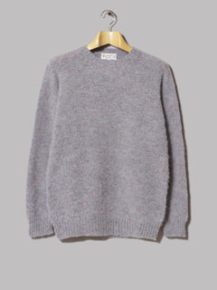Shetland Woollen Co. Crew Neck Shaggy Knit (Steel)