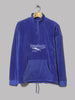 Reebok Cl V Velour Half Zip (Crushed Cobalt)