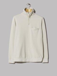 Universal Works Half Zip Sweatshirt (Dry Handle Loopback Laurel)