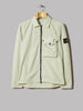Stone Island Garment Dyed Old Effect One Pocket Zip Overshirt (Light Green)