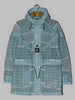 Stone Island Reflective Grid On Lamy-TC Hooded Long Jacket (Aqua)