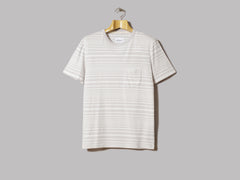 Albam Archive Stripe T-Shirt (White / Lilac)