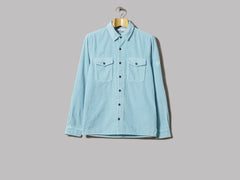 Stone Island Cotton Corduroy Garment Dyed Shirt (Acqua)