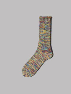 Anonymous Ism 5 Colour Mix Crew Socks (Green / Purple)
