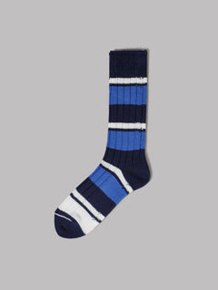 adidas Solid Crew Socks (White / Glory Blue / Collegiate Navy)