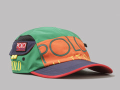 Polo Ralph Lauren Polo Hi Tech 5 Panel Cap (Bittersweet / Green Grass Multi)
