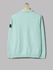 Stone Island Garment Dyed Zipneck Sweater (Acqua)