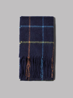 Barbour New Check Tartan Scarf (Black Stewart)