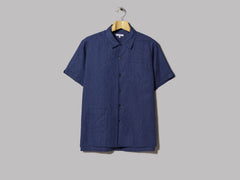 Engineered Garments Camp Shirt (Navy CL Solid)