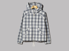 Albam Over Dye Check Hoody (Ecru)