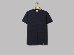 Norse Projects Niels Classic Stripe Tee (Charcoal Melange)