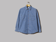 NN07 Deon Western Cotton Shirt (Medium Indigo)