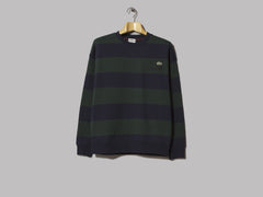 Lacoste L!VE Striped Sweatshirt (Sinople / Navy Blue)