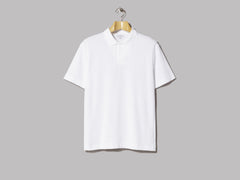 Sunspel Terry Polo Shirt (White)