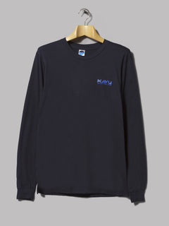 Kavu Etch Art Long Sleeved T-Shirt  (Navy)