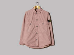 Stone Island Garment Dyed Old Effect Two Pocket Button Overshirt (Rosa Quarzo)