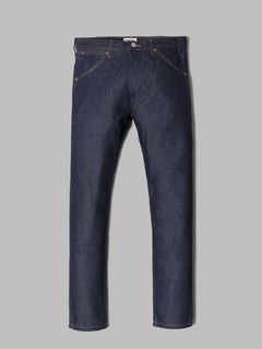 Wrangler Western Zipper Slim Straight Jeans (Dark Indigo Denim)