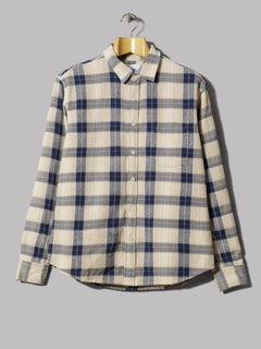 Corridor Capricorn Plaid Long Sleeve Shirt (Taupe)