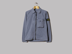 Stone Island Garment Dyed Old Effect One Pocket Zip Overshirt (Carta Zucchero)