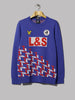 Lyle & Scott Geometric Jacquard Knitted Jumper (Navy / Gala Red)