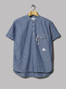 And Wander PL Dungaree Short Sleeve Over Shirt (Blue)