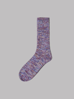 Anonymous Ism 5 Colour Mix Crew Socks (Purple)