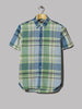 Beams Plus B.D. Big Check Short Sleeved Shirt (Green / Yellow)
