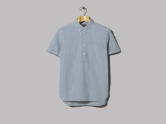 Beams Plus Pullover B.D. Indigo Short Sleeved Shirt (Gingham)