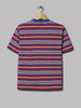 Beams Plus Multi Border Pocket Tee (Blue / Wine / White)
