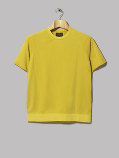 Beams Plus Cut Off Short Sleeve Crew Neck Sweatshirt (Mustard)