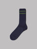 Beams Plus Schoolboy Socks (Navy / Green)
