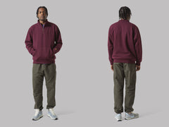 Carhartt WIP Chase Neck Zip Sweat (Merlot / Gold)