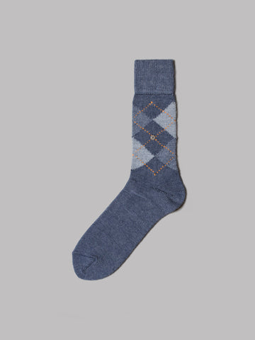Burlington Preston Socks (Slate / Orange)