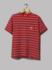 Carhartt WIP Houston Pocket T-Shirt (Houston Stripe, Cardinal)