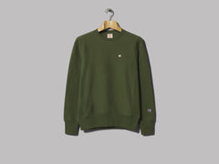 Champion Reverse Weave Crewneck Sweatshirt (Dark Green)